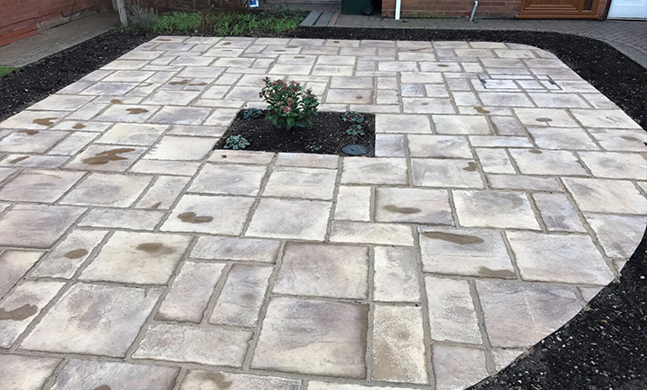Affordable patio and driveways