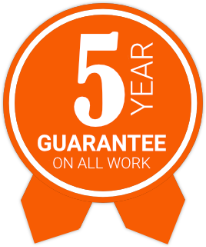 5 year guarantee on all work