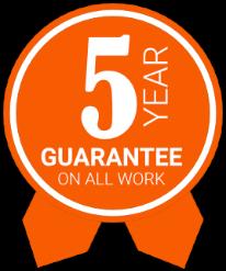 5 year guarantee on all work